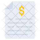 Financial Paper Financial Document Financial Doc Icon