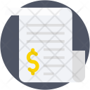 Financial Paper Bank Icon
