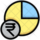 Rupees Pie Chart Pie Chart Pie Graph Icon