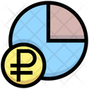 Ruble Chart Ruble Pie Graph Pie Chart Icon