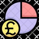 Pound Pie Chart Pound Chart Economy Chart Icon