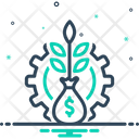 Financial plant Icon