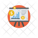 Financial Presentation Business Presentation Graphical Presentation Icon