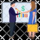 Financial Presentation Employee Training Business Presentation Icon