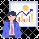 Business Presentation Financial Presentation Financial Analytics Icon