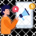 Video Marketing Digital Marketing Mobile Marketing Icon