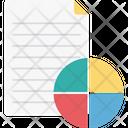 Financial Report Graph Report Pie Graph Icon