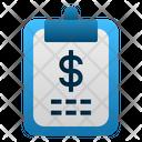 Financial Report Clipboard Dollar Icon