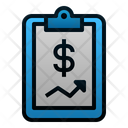 Financial Report Clipboard Data Icon