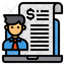 Financial Contract Icon