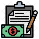 Clipboard File Money Icon