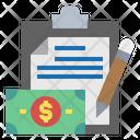 Clipboard File Money Icon