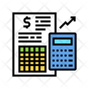 Financial Report Calculator Icon