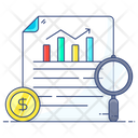 Financial Report Data Analysis Report Analysis Icon