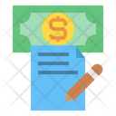 Money File Pen Icon