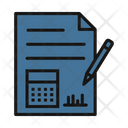Financial Report Graphical Report Business Report Icon