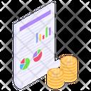 Finance Analytics Business Analysis Financial Report Icon