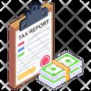 Tax File Tax Report Tax Icon