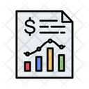 Financial Report Analytics Income Statement Icon