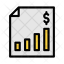 Financial Report Financial Document Business Tax Icon