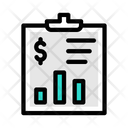 Financial Report Financial Invoice Business Invoice Icon