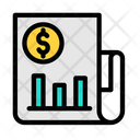 Financial Report Business Report Data Analytics Icon