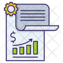 Financial Report Growth Icon