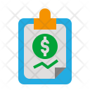 Financial Report Document Icon
