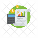 Financial Report Business Report Market Research Icon
