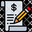 Writing Money Ecommerce Icon
