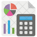 Market Analysis Graph Sheet Business Report Icon