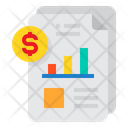 Financial Report Analysis Icon