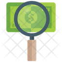 Financial Research Cash Finding Payment Research Icon
