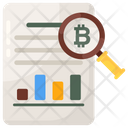 Financial Research Bitcoin Research Financial Analysis Icon