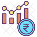 Financial Rupee Report Financial Report Bar Chart Icon