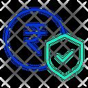 Financial Rupee Security Icon