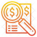 Financial Search Money Search Finding Money Icon