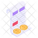 Financial Statement Bill Bank Statement Icon