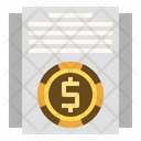 Financial Statement Tax Sheet Icon
