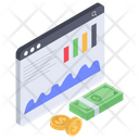 Financial Statistics Business Analytics Investment Report Icon