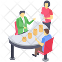 Financial Communication Business Meeting Group Discussion Icon