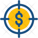 Financial Target Crosshair Icon