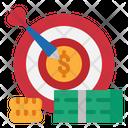 Financial Target Financial Goal Financial Aim Icon