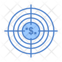 Financial Target Financial Goal Dollar Shooting Icon
