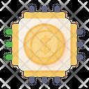 Financial Technology Dollar Microchip Finance Microchip Icon