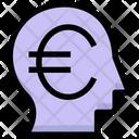 Financial Thinking Euro Head Icon