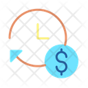 Iclockwise Dollar Financial Time Finance Time Icon