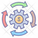 Financial Transaction Gear Money Icon