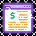 Financial Web Site Icon