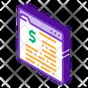 Dollar Web Business Icon